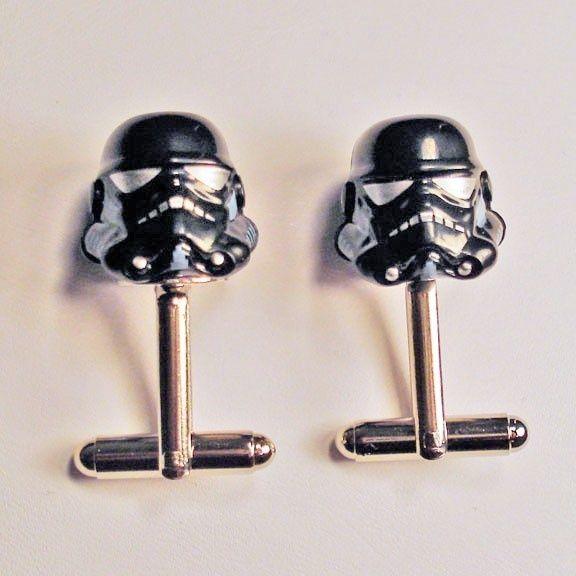 storm trooper cuff links. The nerd in me wants.