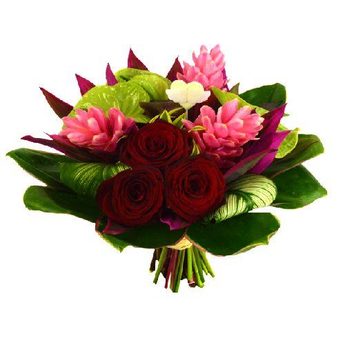 Amor est un magnifique bouquet exotique compos d for Un bouquet de roses