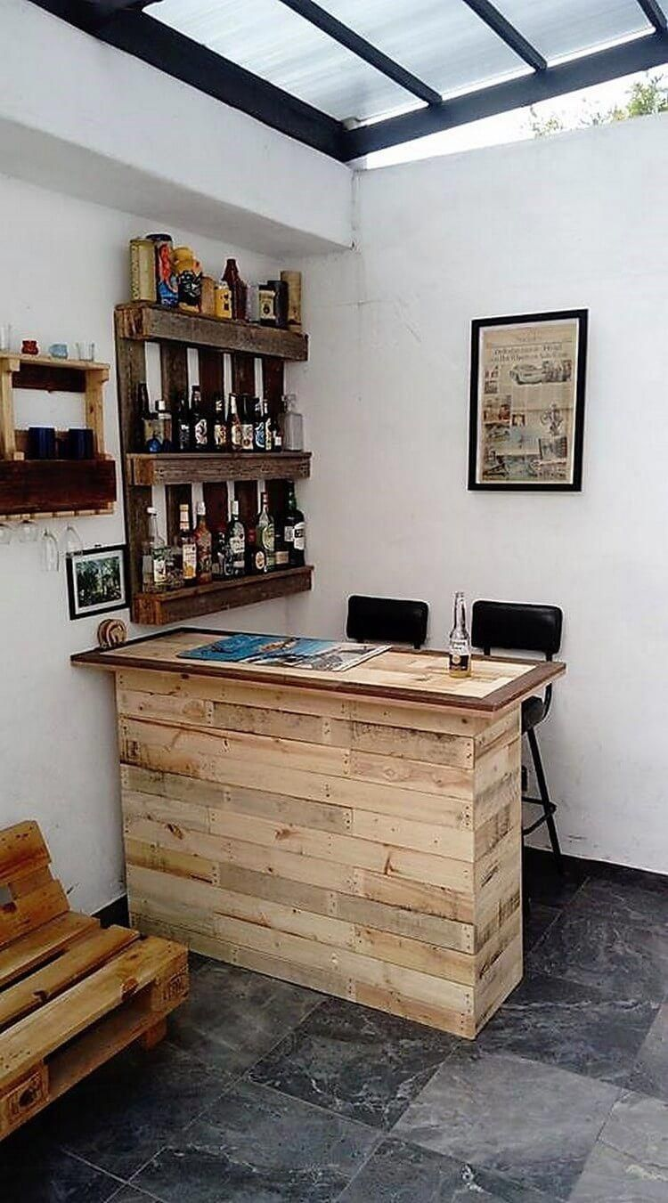 Pin By Chris Chandler On Front Room Diy Home Bar Pallet Bar Diy