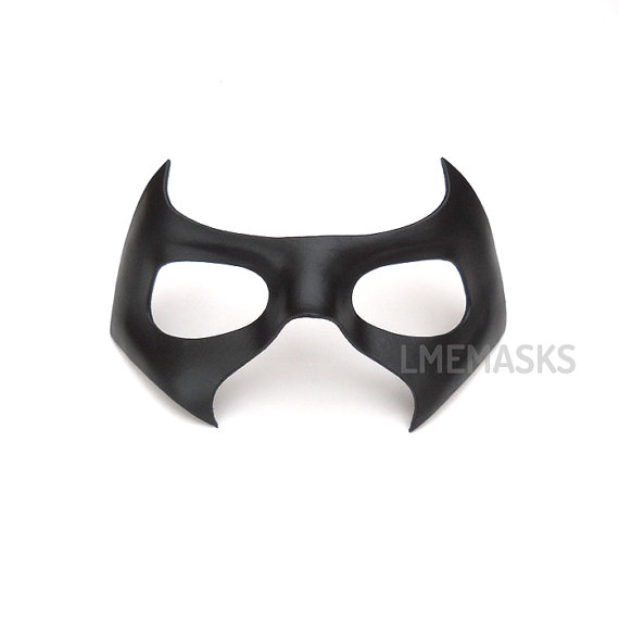 Robin Arkham Knight Leather Mask Nightwing Black Half Mask Red Hood ...