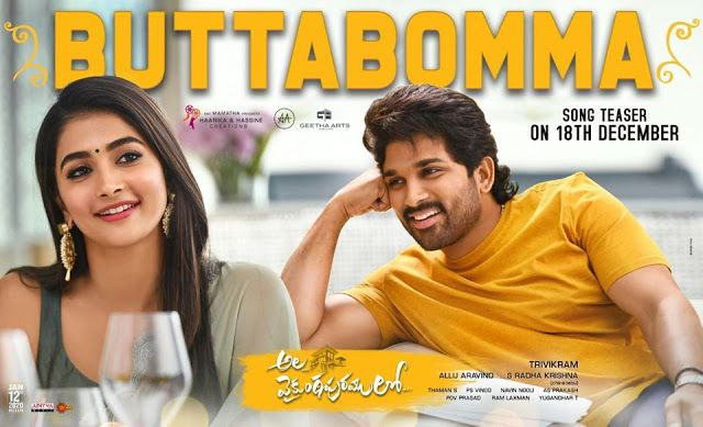 Butta Bomma Telugu Song Lyrics Ala Vaikunthapurramuloo 2020 Https Ift Tt 372xy2l Mp3 Song Download Mp3 Song Dj Songs