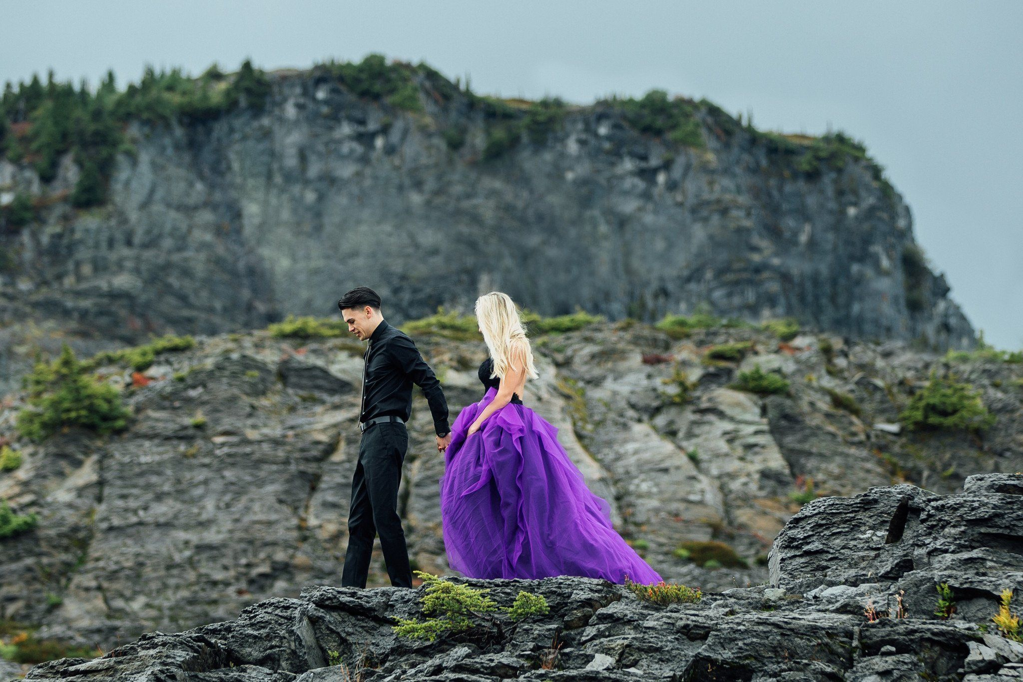 Detachable black and purple gown maia purple gowns