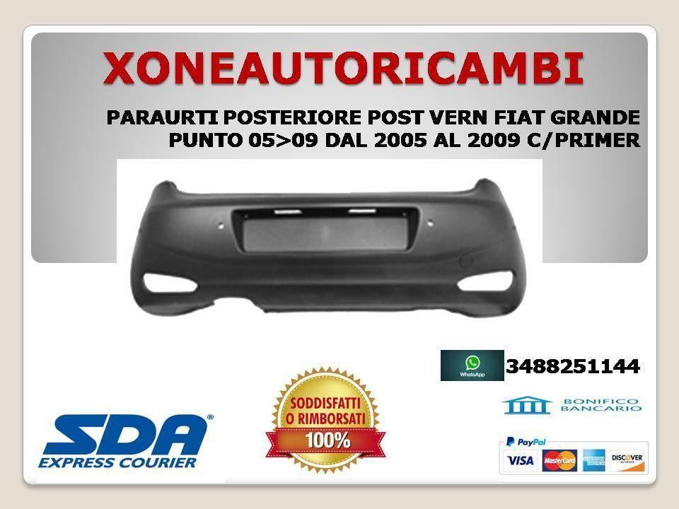TAPPO COPRI GANCIO TRAINO POSTERIORE POST VERN FIAT GRANDE PUNTO 05/>09 2005/>2009