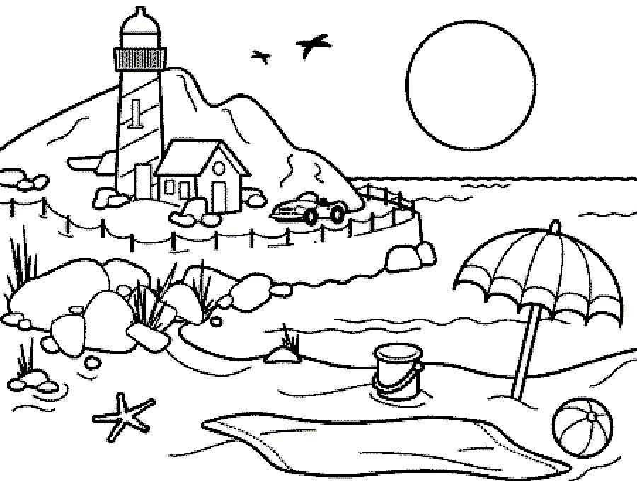 Printable Beach Coloring Pages Beach Coloring Pages Coloring Pages For Kids Super Coloring Pages