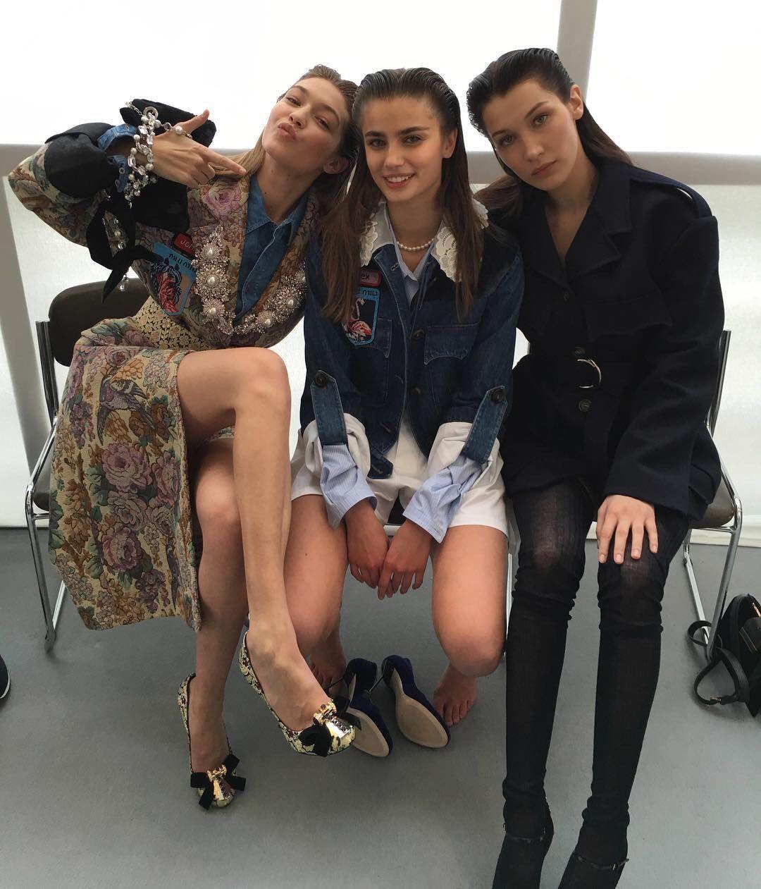 Gigi Hadid, Taylor Marie Hill & Bella Hadid ...
