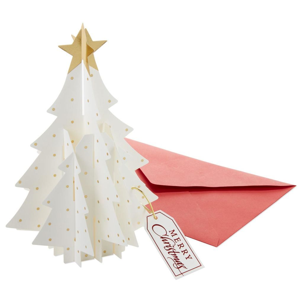 Xmas Card Boxed Christmas Cards White Christmas Tree White Christmas