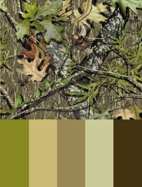 Mossy Oak Obsession Color Palette Camouflage Bedroom