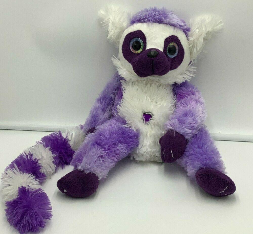 Wild Republic Purple White Lemur Heart Jewel Plush Soft Toy 14 Stuffed Animal Wildrepublic Lemur Soft Toy Animals [ 926 x 1000 Pixel ]