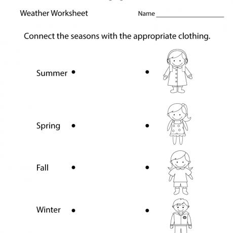 Fun Weather Worksheet Printable Study Material Pinterest