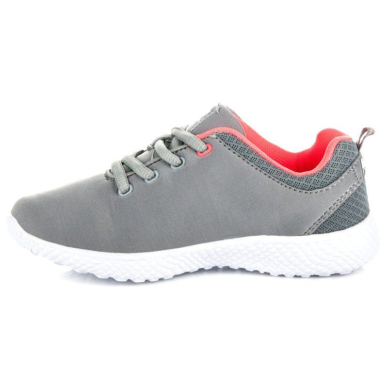 Buty Sportowe Dzieciece Dla Dzieci Americanclub Szare Wiazane Buciki Sportowe American Club Shoes Sneakers Fashion