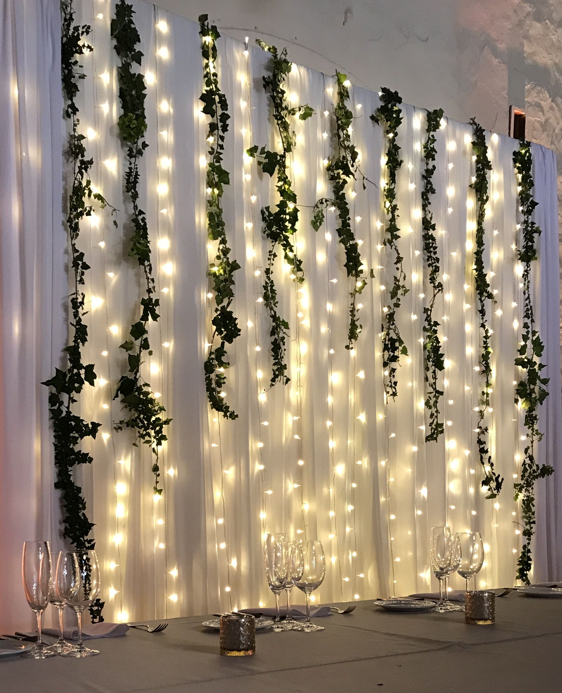 Lights Tulle And Greenery