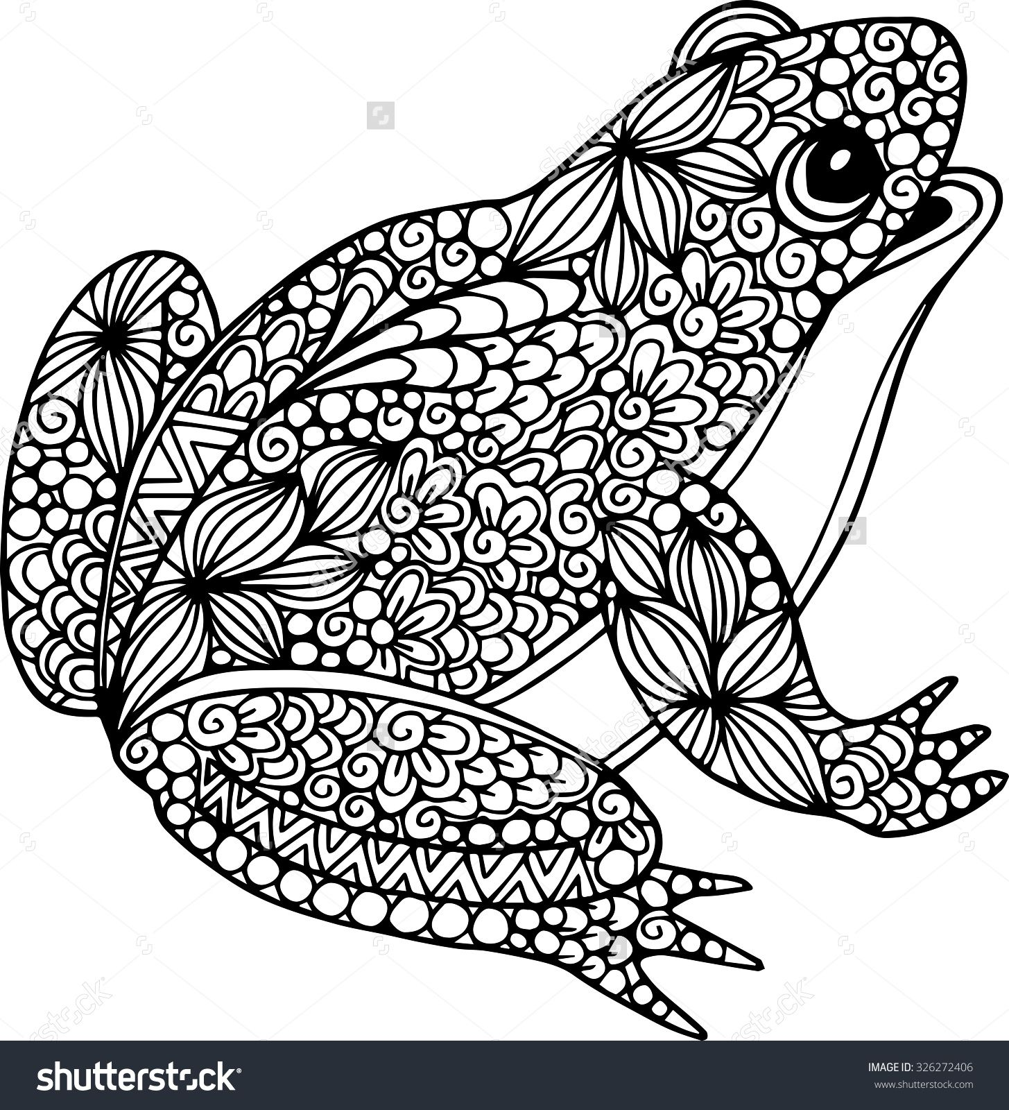 Frog Mandala Coloring Pages