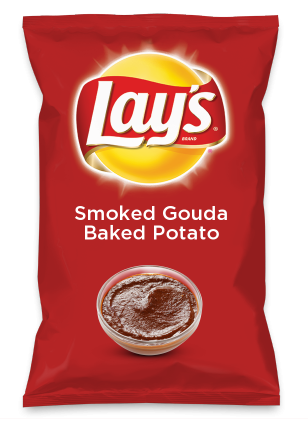 Wouldn't Smoked Gouda Baked Potato be yummy as a chip? Lay's Do Us A Flavor is back, and the search is on for the yummiest flavor idea. Create a flavor, choose a chip and you could win $1 million! https://www.dousaflavor.com See Rules.