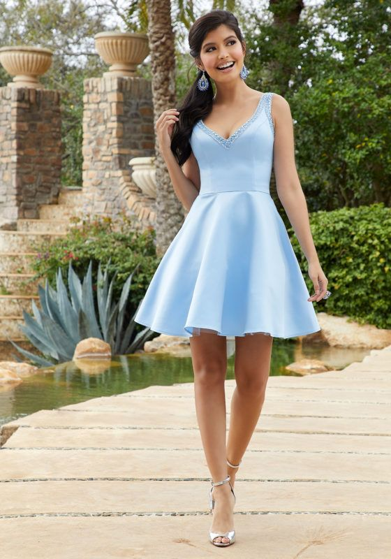 Satin and Tulle Prom/Party Dress | Morilee