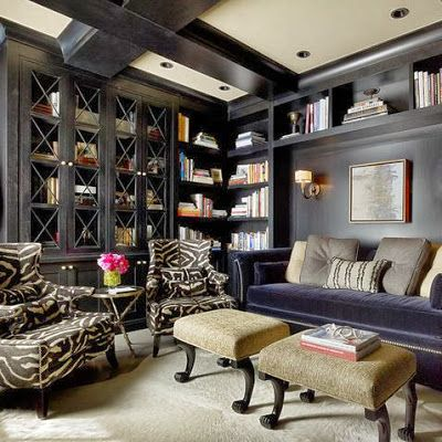 Design Serendipity Dark Walls Small Spaces Pinterest Home Decor Ideas Traditional Home Office Home Office Design