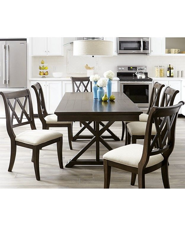 Table For 8 Or More Dining Room Sets  Macy's  Dining Room Extraordinary 8 Piece Dining Room Set 2018