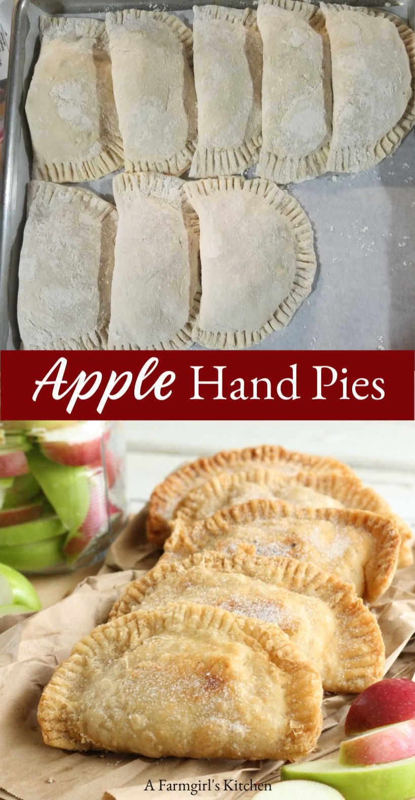 Apple Hand Pies (Use homemade pie crust OR store-bought refrigerated biscuits)