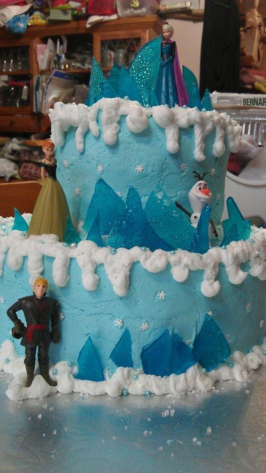 Abigails 6th Birthday cake Frozen Theme