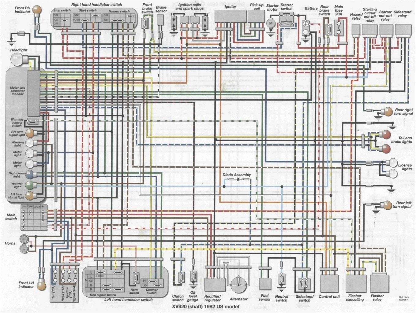 Virago Xv1000 Wiring Diagram Hammer Rail Wiring Diagram