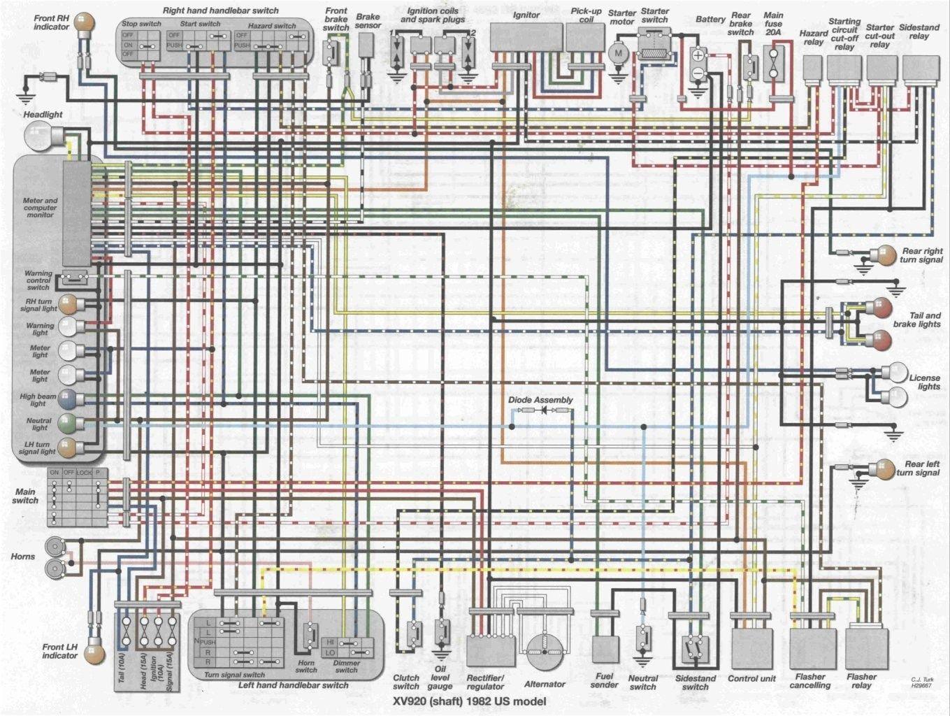 Virago Xv1000 Wiring Diagram Hammer Rail Wiring Diagram Wiring Diagram 1973 Ford 4000 Tractor