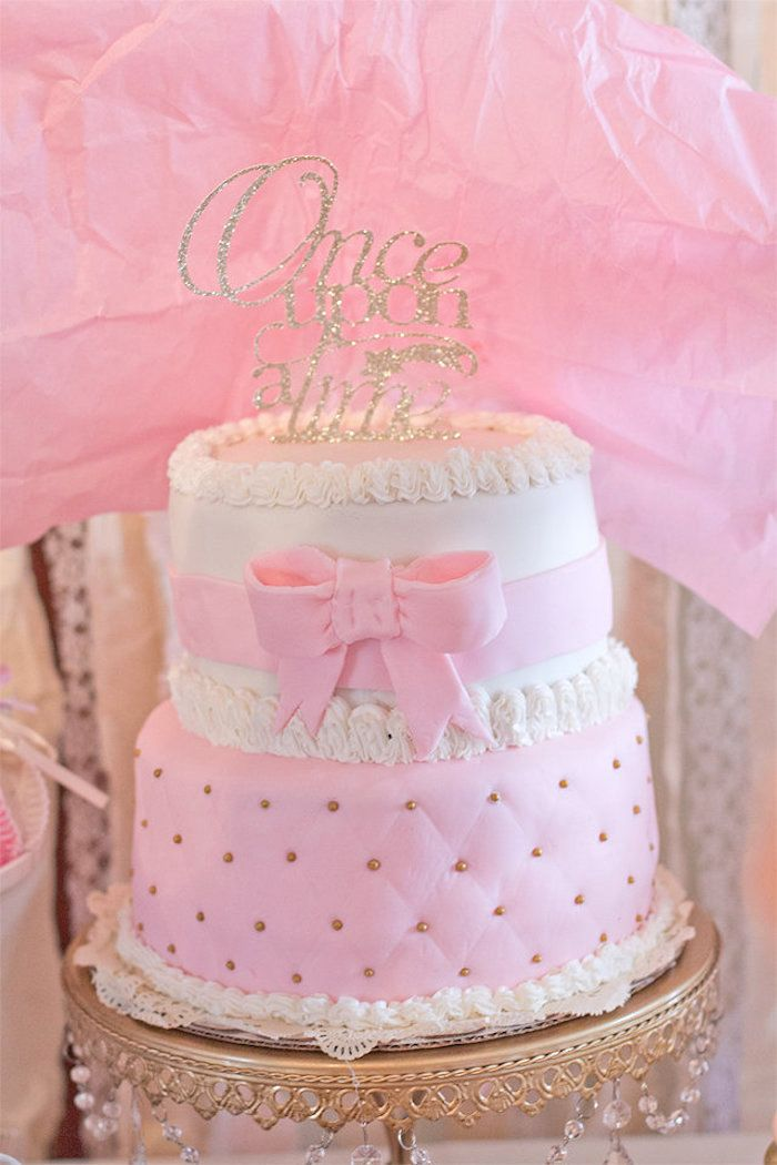 Cake Form An Elegant Princess Baby Shower Via Karau0027s Party Ideas |  KarasPartyIdeas.com (