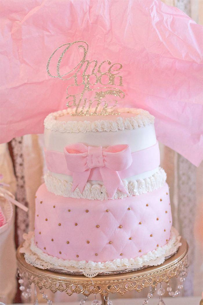 Cake Form An Elegant Princess Baby Shower Via Karau0027s Party Ideas |  KarasPartyIdeas.com (
