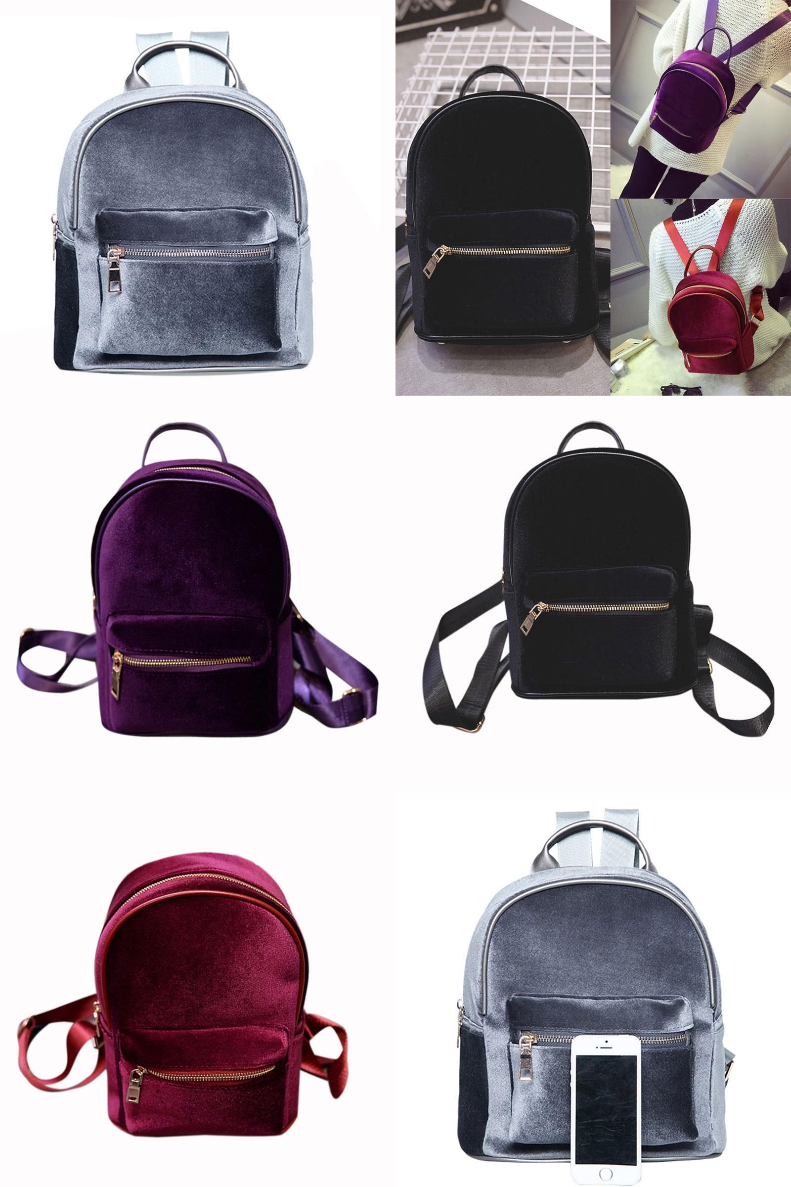 visit to new fashion simple designer backpack soft velour