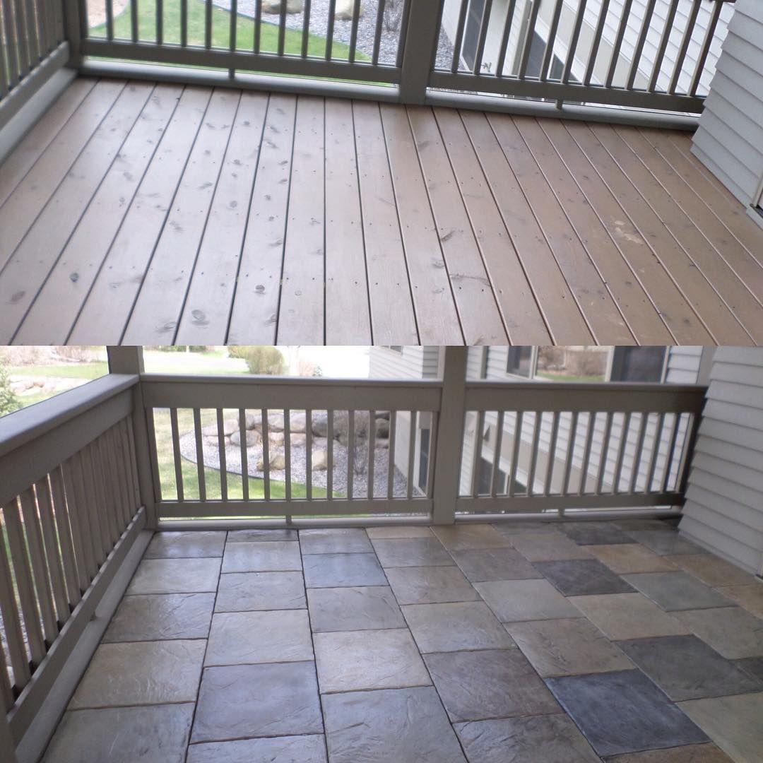 Instagram Photo By Dektek Tile May 4 2016 At 5 02pm Utc Wood Deck Tiles Concrete Patio Wood Deck