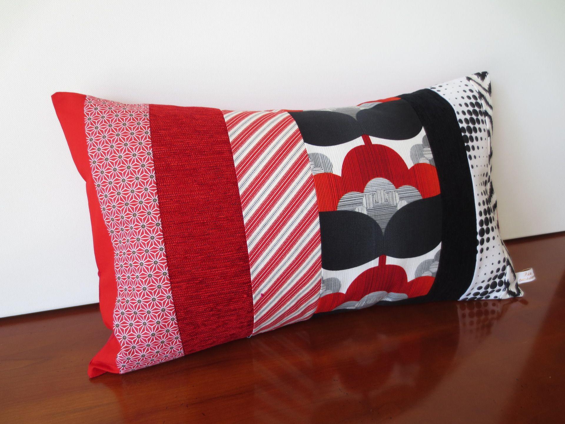 housse coussin patchwork d co vintage textiles et tapis par michka feemainpassionnement