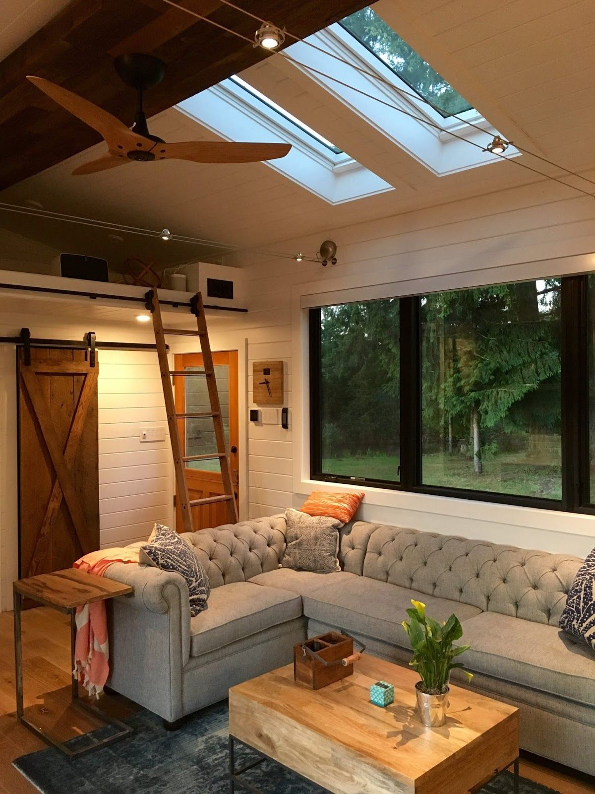A stunning tiny house on wheels by Tiny Heirloom, called the