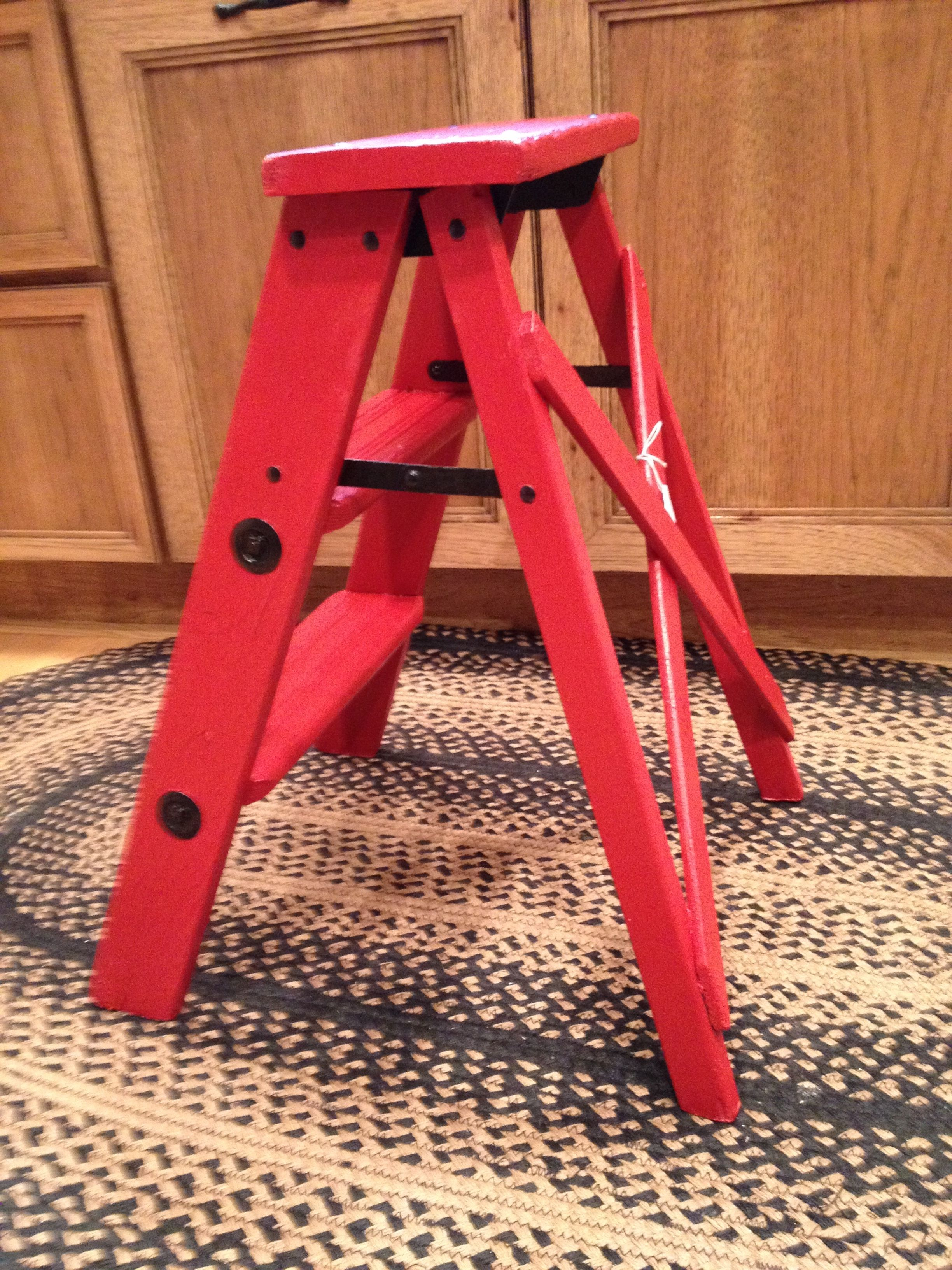 A new paint job for an old step ladder By Repurposed Creations