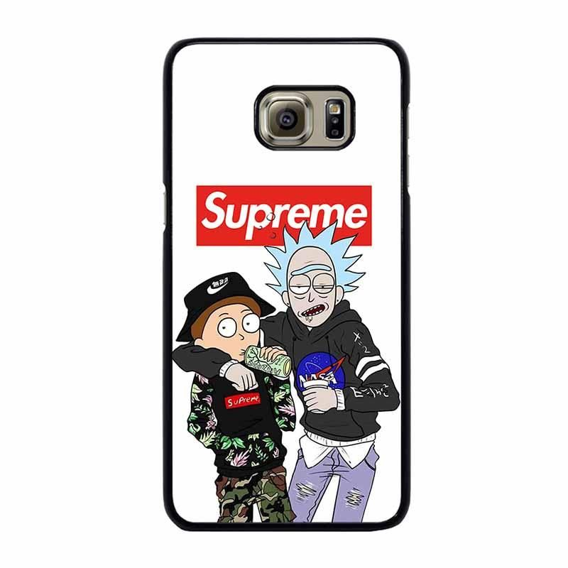 Supreme Rick And Morty Samsung Galaxy S6 Edge Plus Case Best Custom Phone Cover Cool Personaliz Fundas Para Celular Fundas Para Iphone Teléfonos Y Accesorios