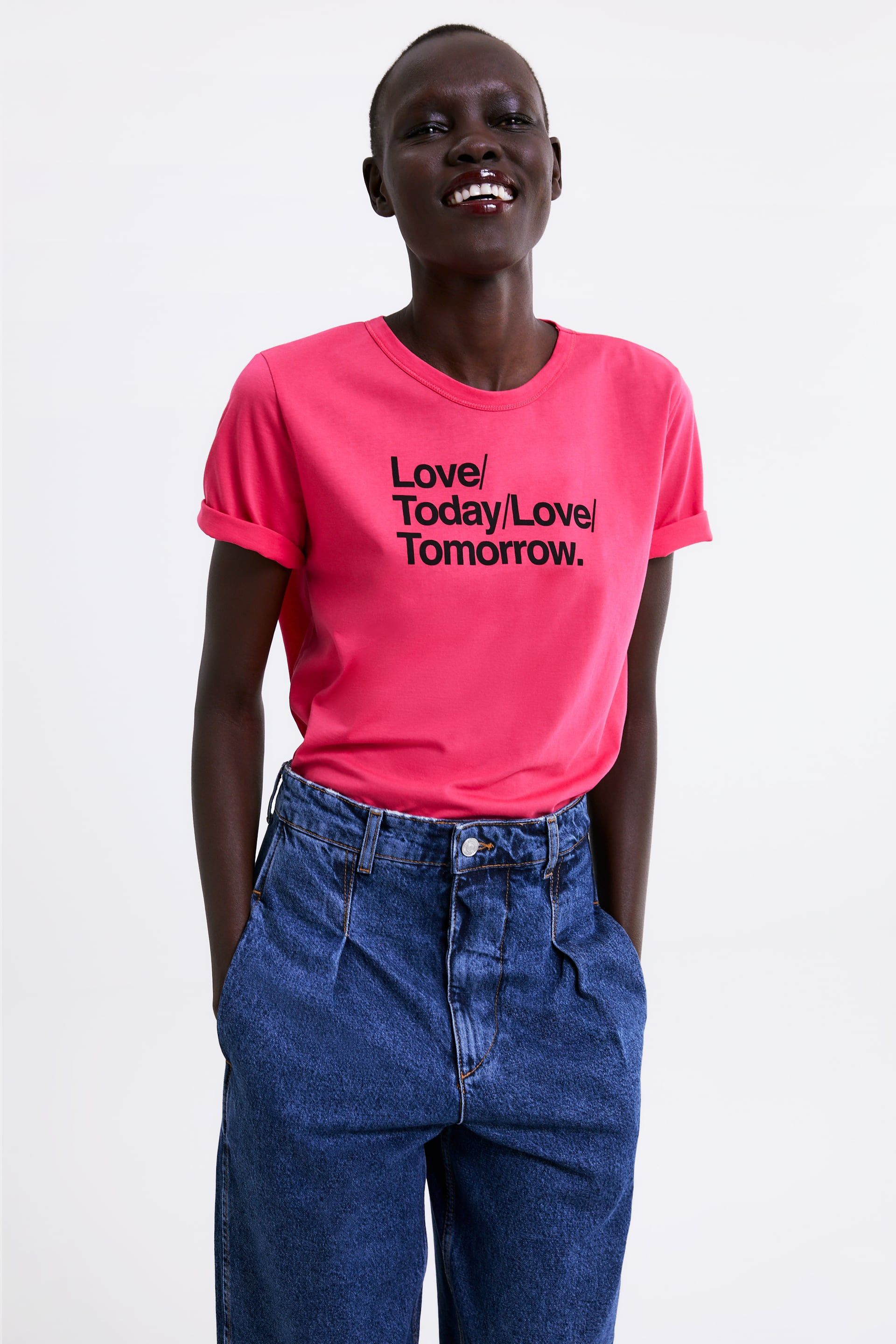 a1a707155f8 T - SHIRT WITH TEXT-NEW IN-WOMAN | ZARA United States | 2019 in 2019 ...