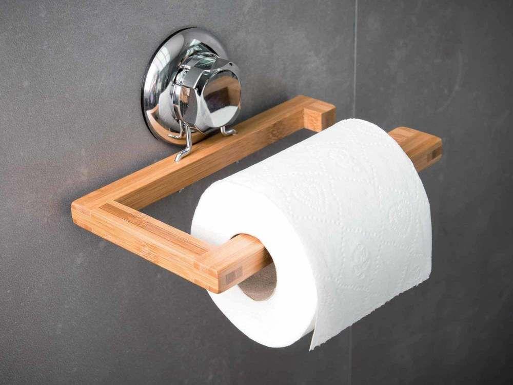 Bambou Abs Acier Chrome Dimensions Longueur 19 5 Cm Profondeur 11 8 Cm Hauteur 9 Cm Cou Derouleur Papier Toilette Papier Hygienique Papier Toilette