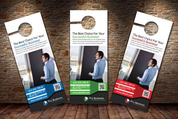 Multi Use Business Door Hanger by Business Flyers on - door hanger design template