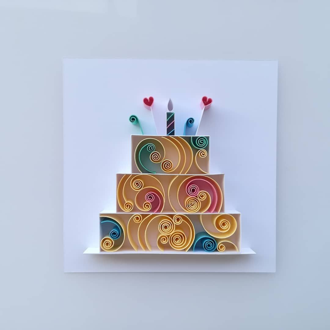 Quilled Paper Birthday Cake