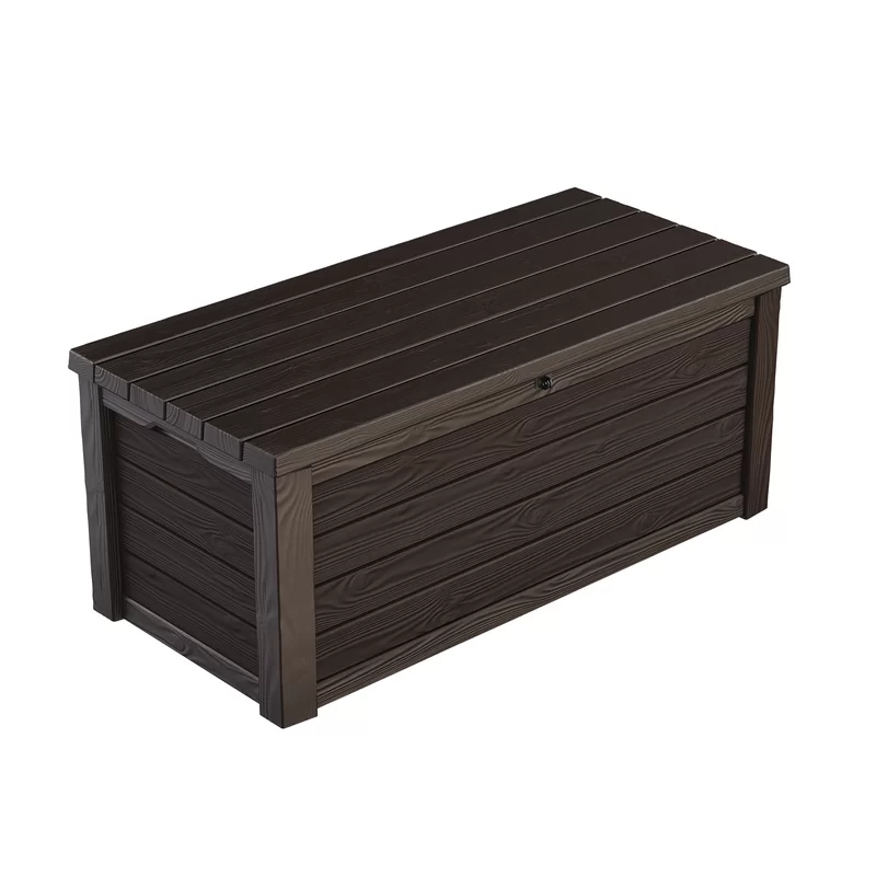 Keter Eastwood 150 Gallon Resin Deck Box Reviews Wayfair Resin Deck Box Deck Box Patio Storage