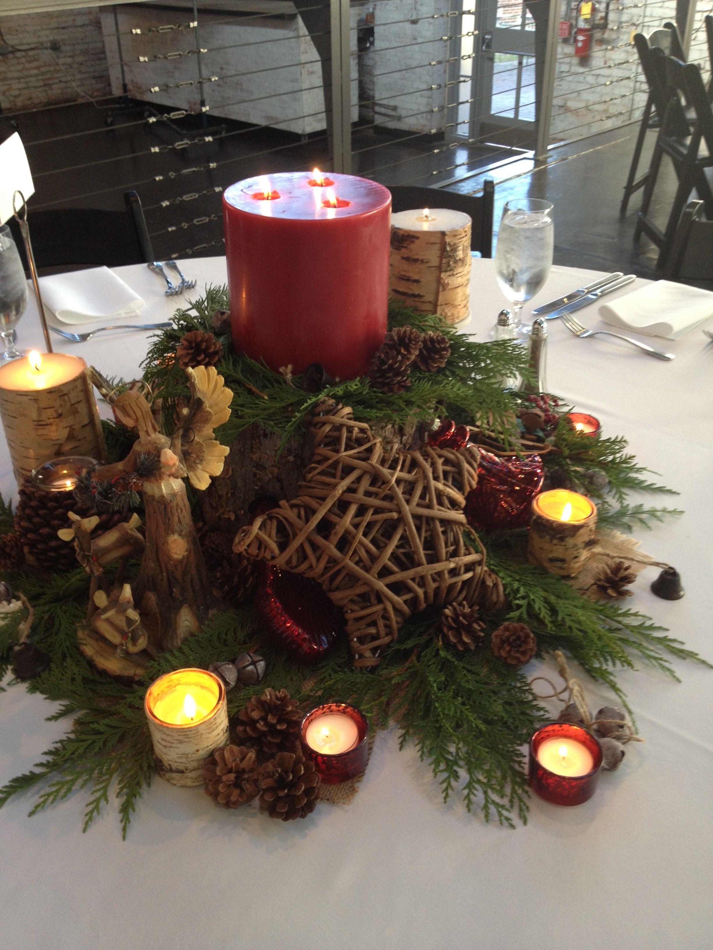 Rustic Christmas Table Centerpiece Christmas Table Centerpieces Christmas Table Table Centerpieces