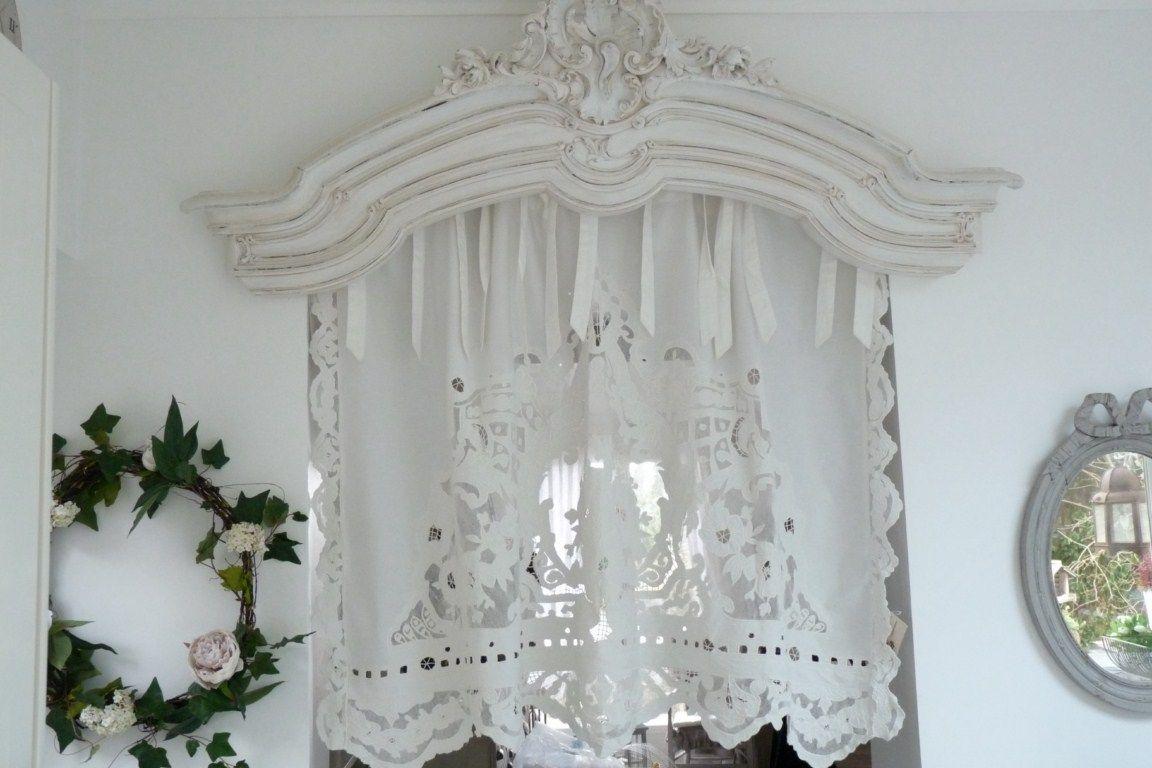Brise bise store lin rideaux rideau brod s voilages - Rideaux brise bise cuisine ...
