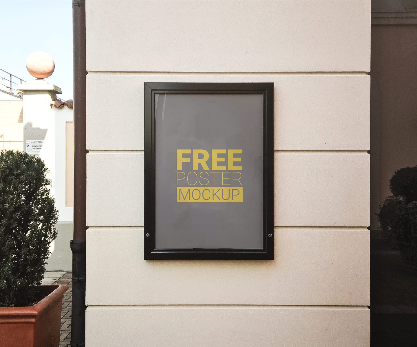 Download Free Mockup Poster Wall Yellowimages