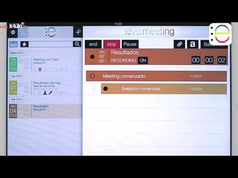 App Ipad Evermeeting Realiza Conferencias Y Reuniones Ipad