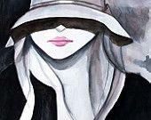 hat illustration on Etsy, a global handmade and vintage marketplace.