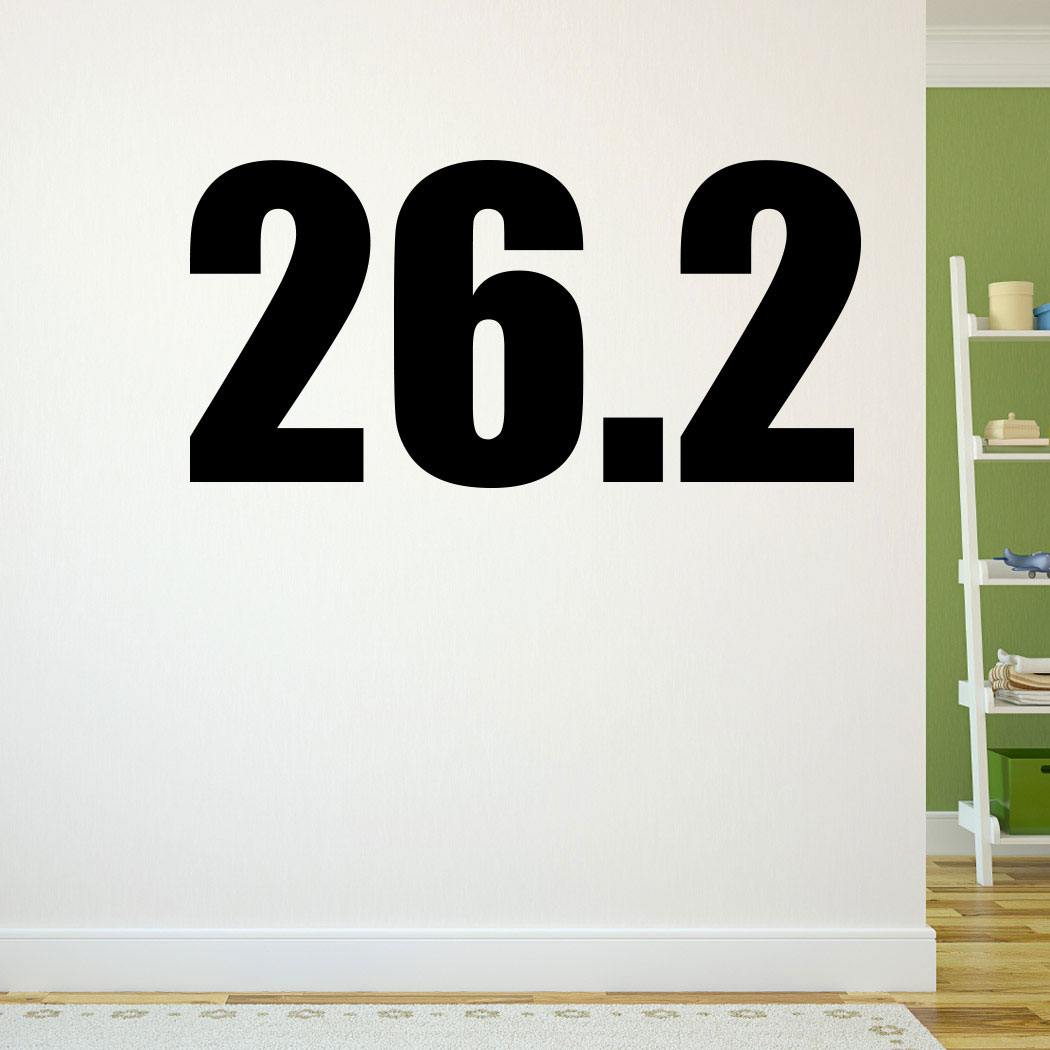 Inspire yourself to keep training for that marathon with our 26.2 GoneForARunGraphix wall decal!