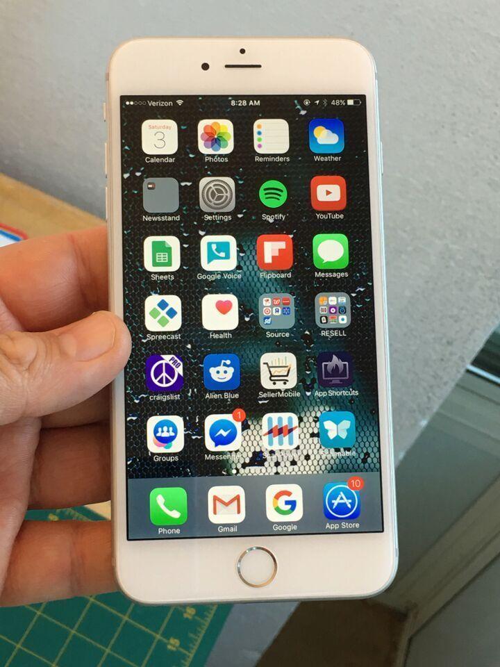 apple iphone 6 plus 64gb silver unlocked verizon. Black Bedroom Furniture Sets. Home Design Ideas