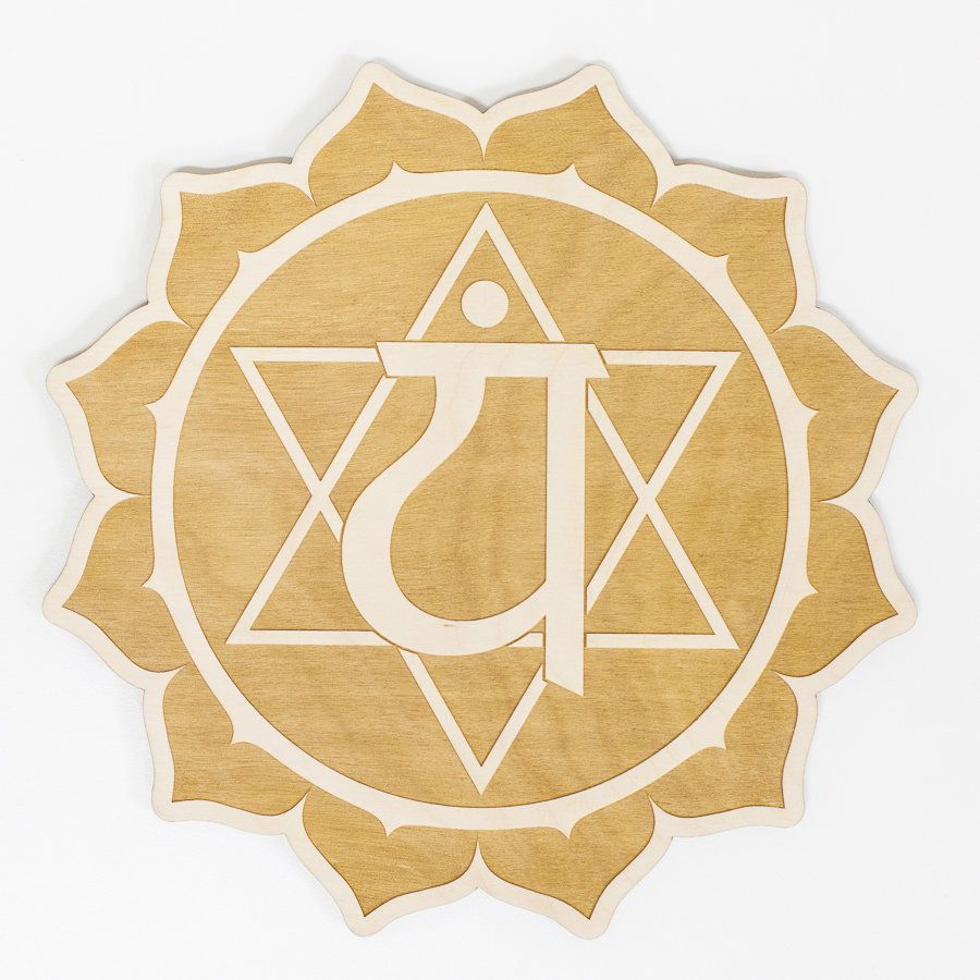 Heart Chakra Engraved Wood Sign Wall Décor | Products | Pinterest ...