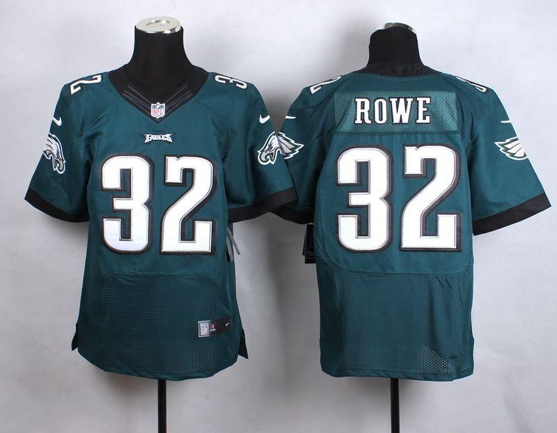 Men's Philadelphia Eagles #32 Eric Rowe 2014 Nike Dark Green Elite Jersey