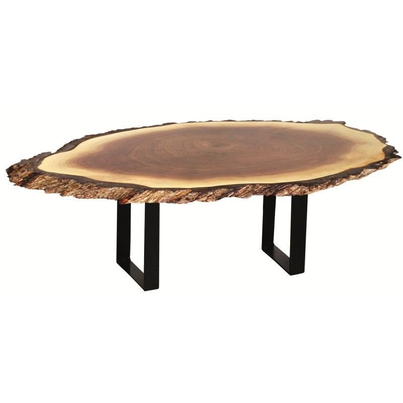 Walnut Live Edge Oval Coffee Table Live Edge Furniture Coffee