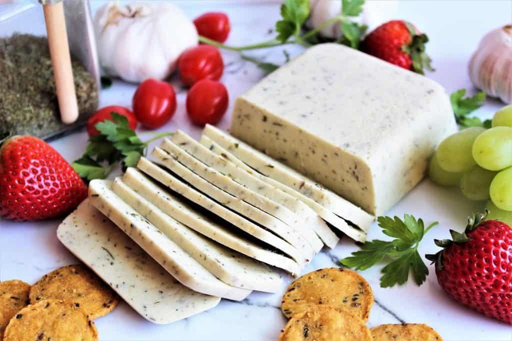 How To Make Vegan Cheese Vegan Provolone The Hidden Veggies Vegan Cheese Herb Cheese Dairy Free Cheese