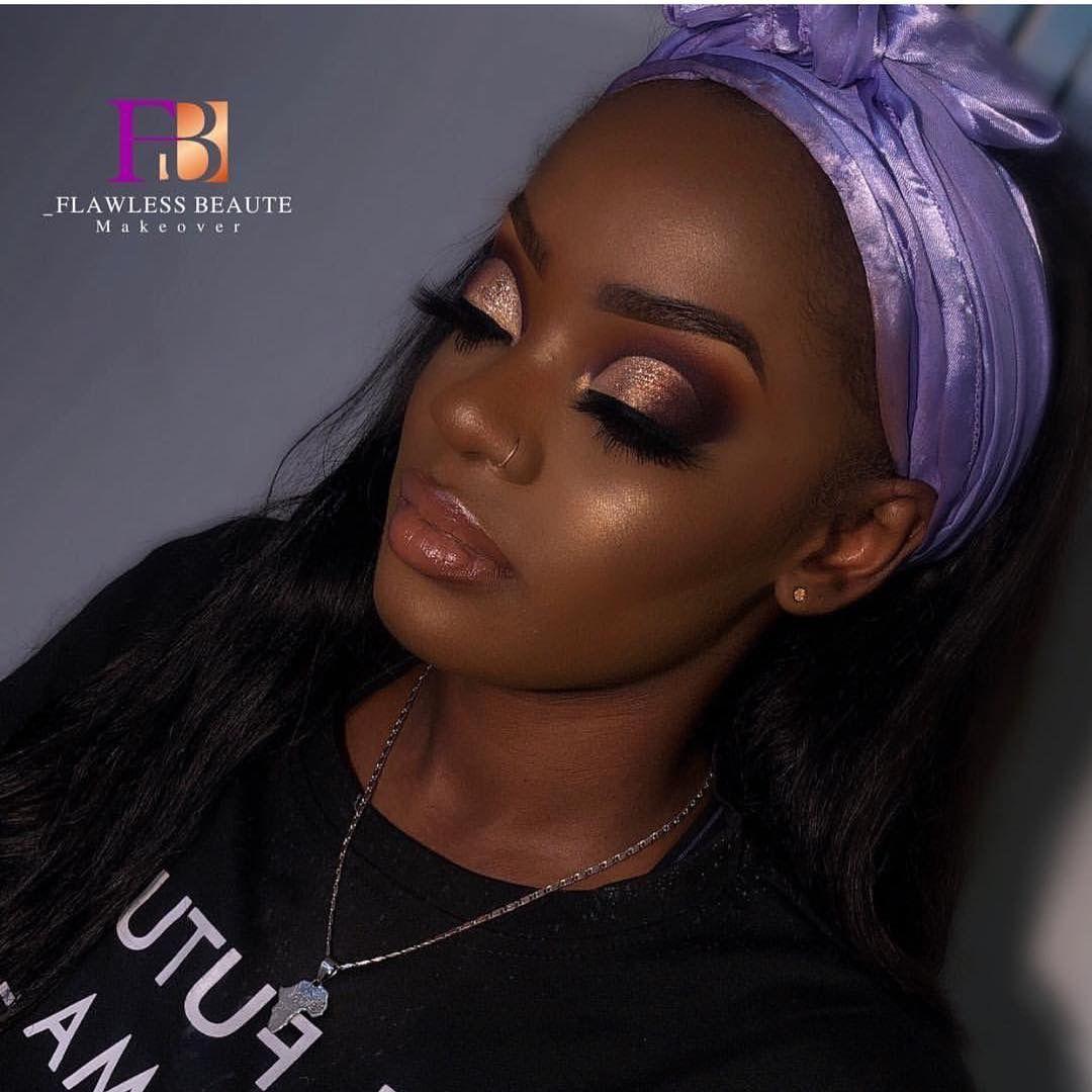 Pinterest LexualSun Black girl makeup, Senior picture