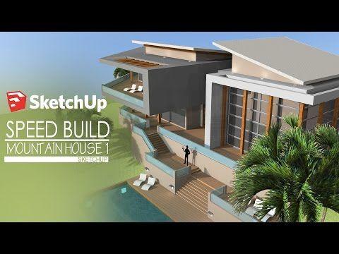 Tutorial Sketchup 2016 create modern house model YouTube
